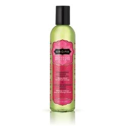 Sexshop - lekki olejek do masażu i nawilżania - kama sutra naturals massage oil truskawka - 236gram - online