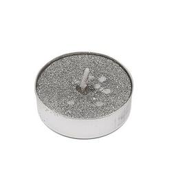 Świeczki tealight z brokatem srebnym 9 szt