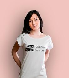 Mała ciałem t-shirt damski biały xxl