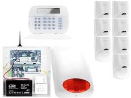 Za12545 zestaw alarmowy dsc 7x czujnik ruchu manipulator lcd powiadomienie gsm