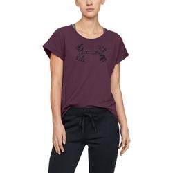 Koszulka damska under armour graphic script logo ua fashion ssc - fioletowy
