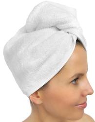 Turban wellness greno biały - biały