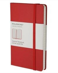 Notes Moleskine kieszonkowy w kratkę czerwony
