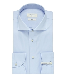 Extra długa błękitna koszula taliowana slim fit 44