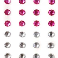 Kryształki dekoracyjne samoprzylepne - 100 szt.