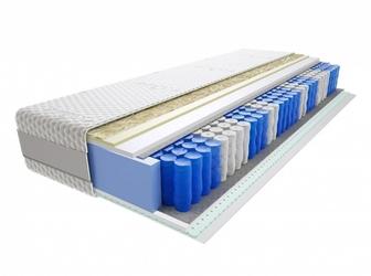 Materac kieszeniowy Wati Lux 120x200 cm Średnio twardy Lateks Visco Memory
