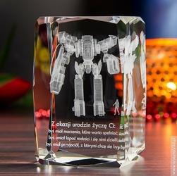 Mech 3D z Twoją dedykacją ♥ kryształ 3D średni plus • GRAWER 3D