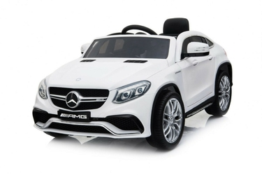 Mercedes gle63 duży biały samochód na akumulator + pilot
