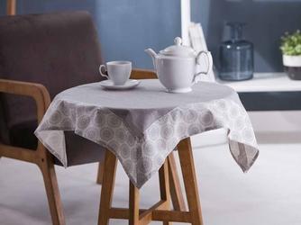 Obrus na stół  serweta altom design szary  obszycie szare kwadratowy 80 x 80 cm