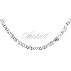 Łańcuszek srebrny pr. 925 rombus podwójny diamentowany ø 050 - 3,0 mm