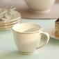 Filiżanka do kawy i herbaty porcelana mariapaula nova ecru złota linia 250 ml