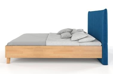 Łóżko drewniane bukowe visby vivien z tapicerowanym zagłówkiem