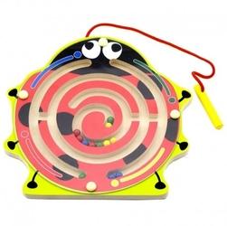 Viga drewniany labirynt magnetyczny biedronka