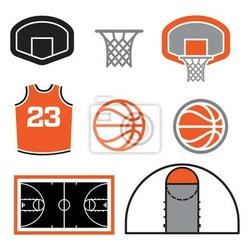 Plakat proste elementy wektorowe koszykówki