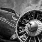 Fototapeta silnik w skrzydle samolotu fp 2372