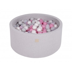 Suchy basen dla dziecka 90x40 cm + 200 piłek - jasnoszary