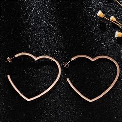 Kolczyki złote serca stal szlachetna sztyft duże