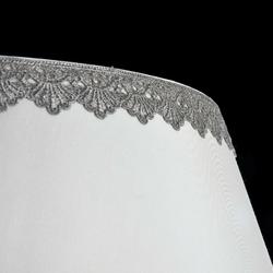 Żyrandol 3 żarówki z jednym, dużym abażurem ozdobionym koronką bouquet maytoni arm023-pl-03-s