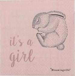 Serwetki z królikiem Bloomingville Mini 20 szt. Its a girl