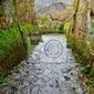 Fototapeta widok z badlands w civita di bagnoregio, włochy.