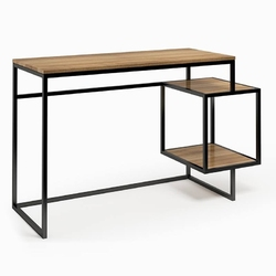 Nowoczesne biurko z kontenerkiem connect steel troisie