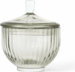 Bomboniera Lyngby szklana Smoke 10 cm
