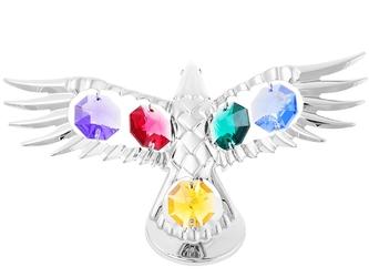 Figurka orzeł kryształy swarovski dedykacja niebieska kokardka