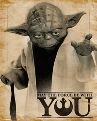 Star Wars Classic May the force be with you - plakat