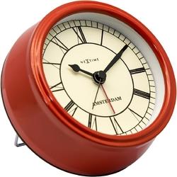 Budzik amsterdam nextime 11 cm, czerwony 5199 ro