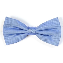 Muszka męska jedwabna błękitna - prosty splot