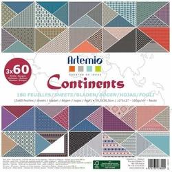Papier ozdobny 30,5x30,5 cm - Continents
