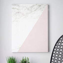 Modny obraz na płótnie - minimalist pink marble , wymiary - 60cm x 90cm