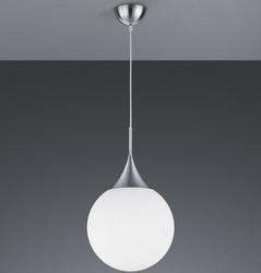 Nowoczesna lampa wisząca z kulistym kloszem białym midas 30