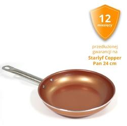 Starlyf Copper Pan patelnia 24 cm - przedłużona gwarancja 12 miesięcy