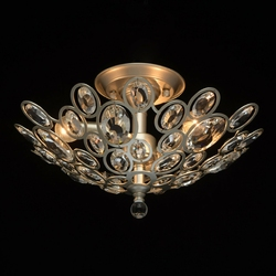 Nowoczesna 3-punktowa lampa sufitowa, satynowo-srebrna, kryształy mw-light 345012303