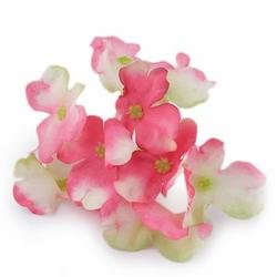 Mini kwiat wyrobowy HORTENSJA - różowy - różowy