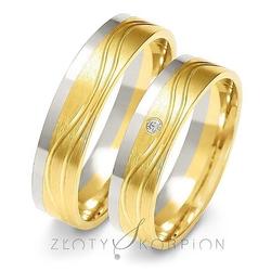 Obrączki ślubne dwukolorowe złoty skorpion – wzór au-a223