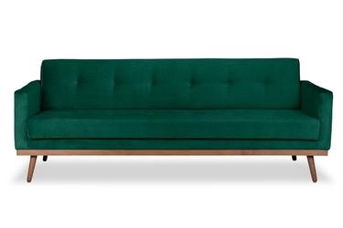 Sofa klematisar z funkcją spania welurowa 3-osobowa  deluxe - welur łatwozmywalny peacock