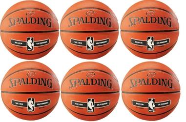 Piłka do koszykówki spalding nba silver outdoor na zewnątrz orliki - 6 sztuk