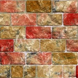 Naklejka samoprzylepna ilustracja kolorowy mur