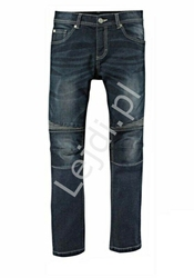 Niebieskie męskie spodnie jeansowe firmy bench