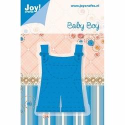 Ozdobny wykrojnik baby boy - ogrodniczki - 0208