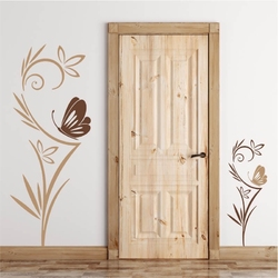 Szablon na ścianę kwiaty motyl 2089