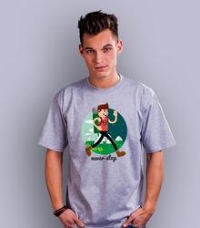 Never stop jak to daleko t-shirt męski jasny melanż s