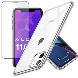 Etui esr ice shield do apple iphone 11 clear + szkło alogy