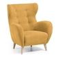 Tapicerowany fotel passo 86x86 cm żółty