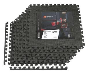 Mata puzzle eva 1cm hs-a009pm 6 sztuk czarna - hop sport