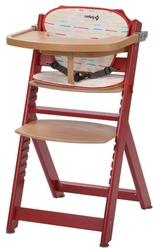 Safety 1st timba raspberry red drewniane krzesełko z wkładką + puzzle