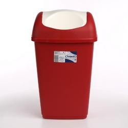 Kosz na śmieci uchylny do łazienki i biurka tontarelli grace 9 l czerwony