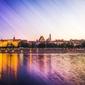 Warszawa panorama stare miasto - plakat premium wymiar do wyboru: 91,5x61 cm